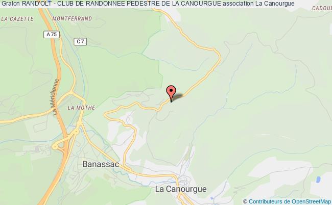 plan association Rand'olt - Club De Randonnee Pedestre De La Canourgue