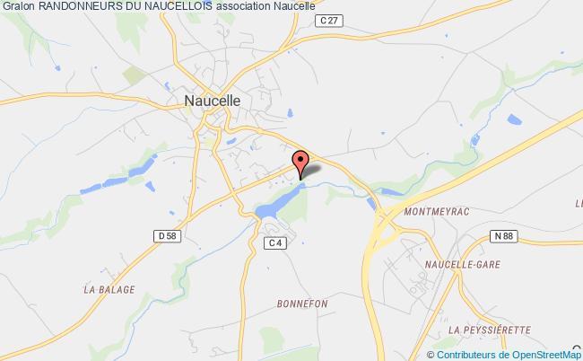 plan association Randonneurs Du Naucellois Naucelle