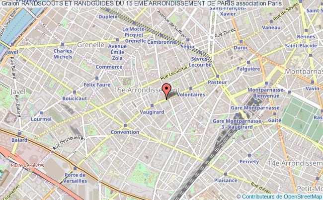plan association Randscouts Et Randguides Du 15 Eme Arrondissement De Paris Paris