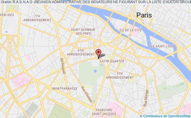plan association R.a.s.n.a.g (rÉunion Administrative Des SÉnateurs Ne Figurant Sur La Liste D'aucun Groupe) Paris