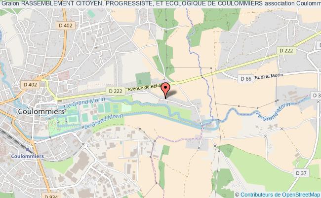 plan association Rassemblement Citoyen, Progressiste, Et Ecologique De Coulommiers Coulommiers