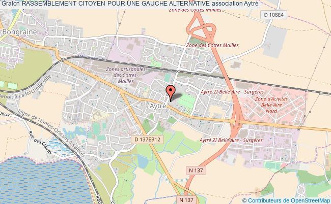 plan association Rassemblement Citoyen Pour Une Gauche Alternative Aytré