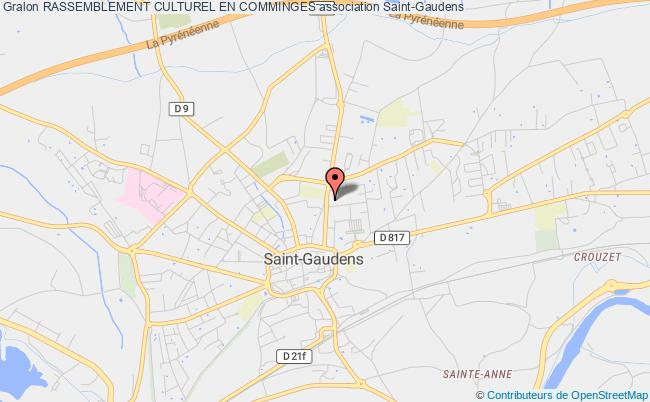 plan association Rassemblement Culturel En Comminges Saint-Gaudens