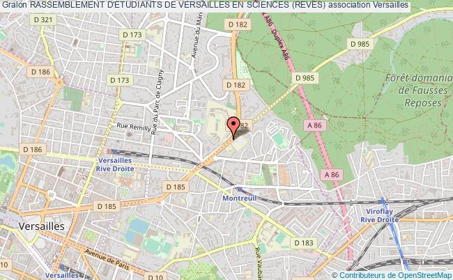 plan association Rassemblement D'etudiants De Versailles En Sciences (reves)