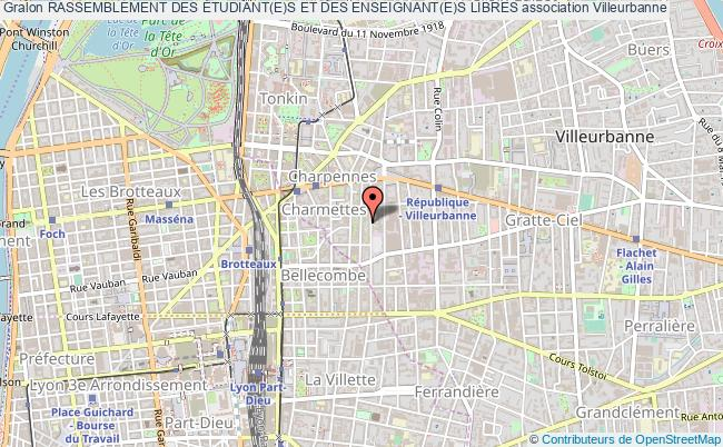 plan association Rassemblement Des Étudiant(e)s Et Des Enseignant(e)s Libres