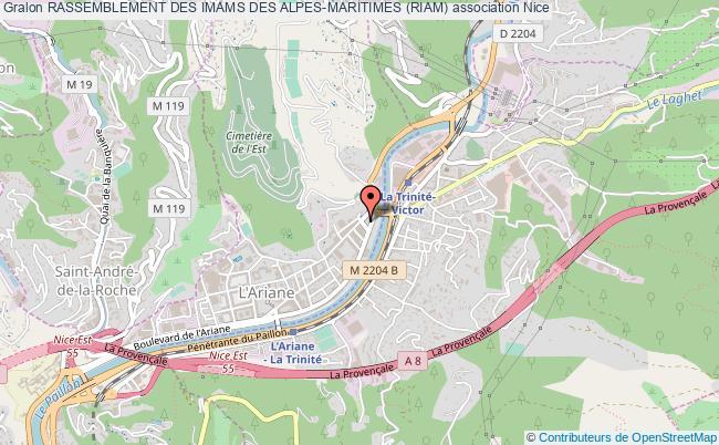 plan association Rassemblement Des Imams Des Alpes-maritimes (riam)