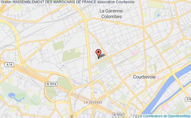 plan association Rassemblement Des Marocains De France Courbevoie