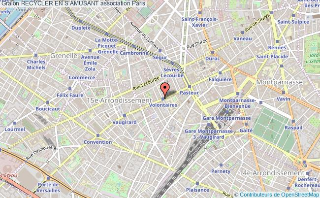 plan association Recycler En S'amusant Paris 15
