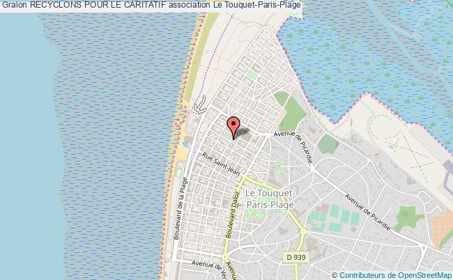 plan association Recyclons Pour Le Caritatif Le    Touquet-Paris-Plage