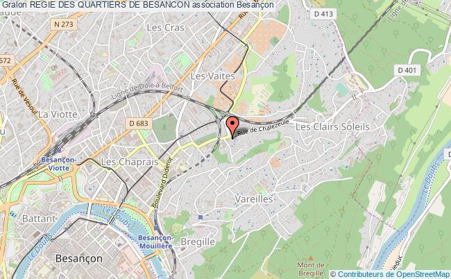 plan association Regie Des Quartiers De Besancon Besançon