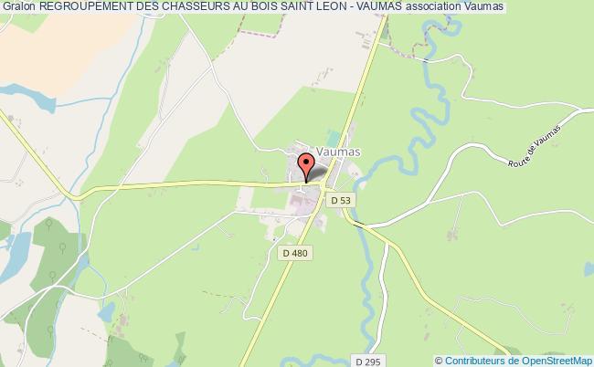 plan association Regroupement Des Chasseurs Au Bois Saint Leon - Vaumas
