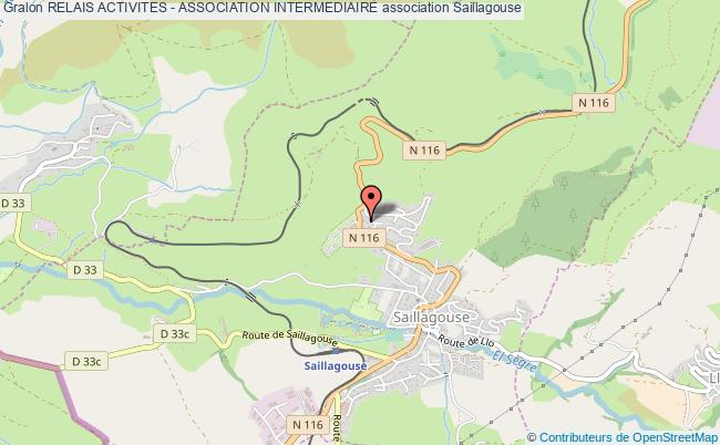 plan association Relais Activites - Association Intermediaire Saillagouse