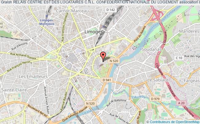 plan association Relais Centre Est Des Locataires C.n.l. Confederation Nationale Du Logement