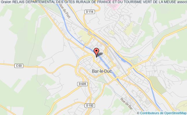 plan association Relais Departemental Des Gites Ruraux De France Et Du Tourisme Vert De La Meuse