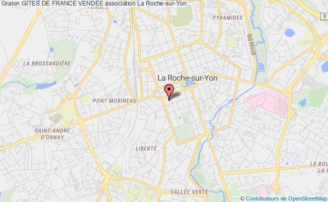 plan association Relais Des Gites De France Et Du Tourisme Vert De Vendee La    Roche-sur-Yon