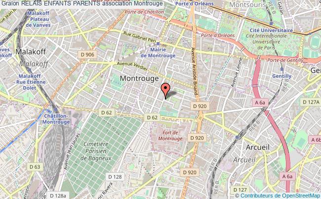 plan association Relais Enfants Parents Montrouge