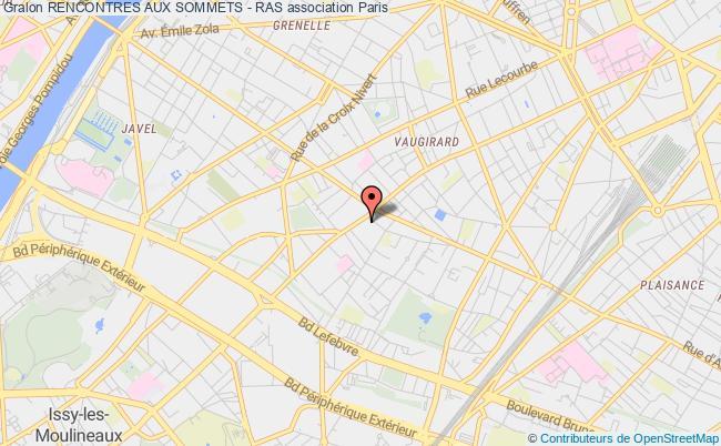 plan association Rencontres Aux Sommets - Ras Paris