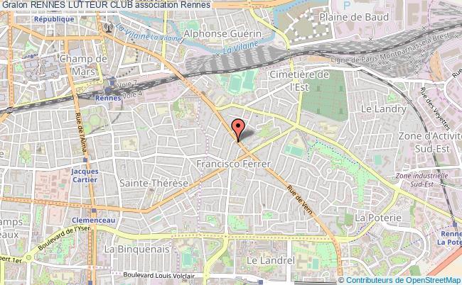 plan association Rennes Lutteur Club Rennes