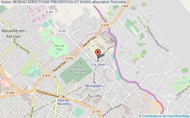 plan association Reseau Addictions Prevention Et Soins Tourcoing