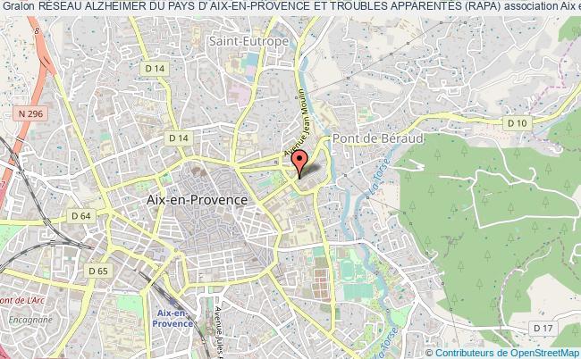 plan association RÉseau Alzheimer Du Pays D' Aix-en-provence Et Troubles ApparentÉs (rapa)