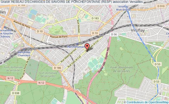 plan association Reseau D'echanges De Savoirs De Porchefontaine (resp)