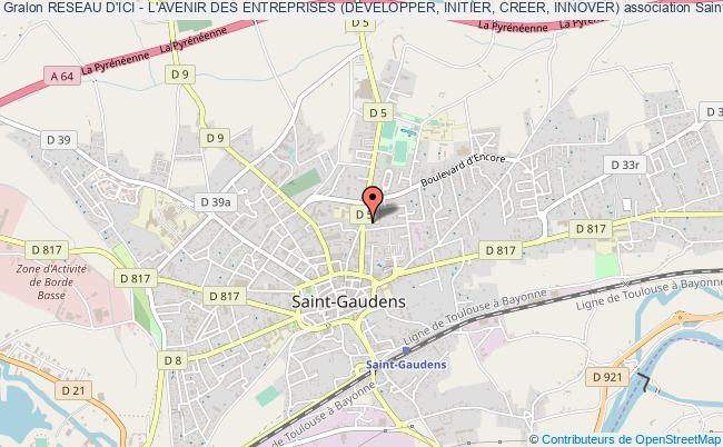plan association Reseau D'ici - L'avenir Des Entreprises (developper, Initier, Creer, Innover) Saint-Gaudens