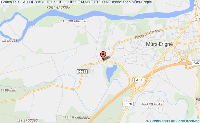plan association Reseau Des Accueils De Jour De Maine Et Loire Mûrs-Erigné