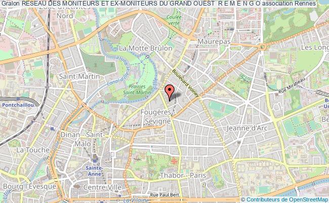 plan association Reseau Des Moniteurs Et Ex-moniteurs Du Grand Ouest  R E M E N G O