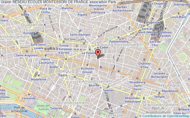 plan association Reseau Ecoles Montessori De France