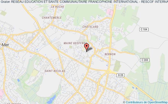 plan association Reseau Education Et Sante Communautaire Francophone International - Rescof International Royan
