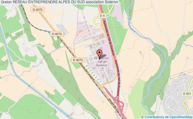 plan association RÉseau Entreprendre Alpes Du Sud