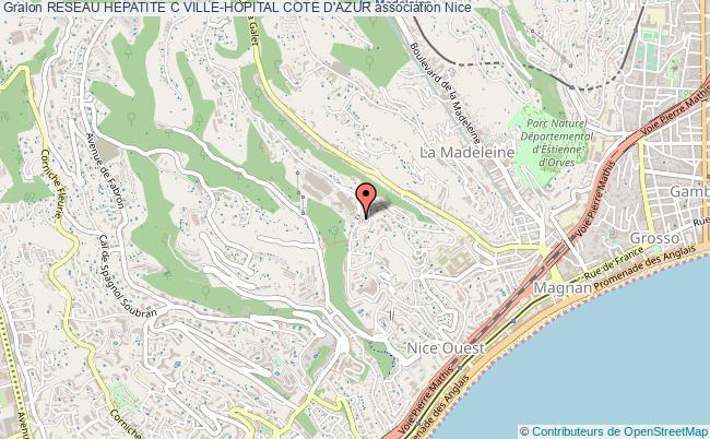 plan association Reseau Hepatite C Ville-hopital Cote D'azur Nice cedex 3