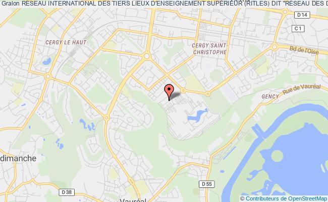 plan association RÉseau International Des Tiers Lieux D'enseignement SupÉrieur (ritles) Cergy