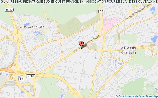 plan association RÉseau PÉdiatrique Sud Et Ouest Francilien - Association Pour Le Suivi Des Nouveaux-nÉs À Risque (rpsof-asnr)