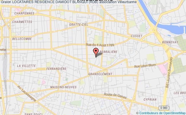 plan association Residence Damidot Blanqui (rdb)