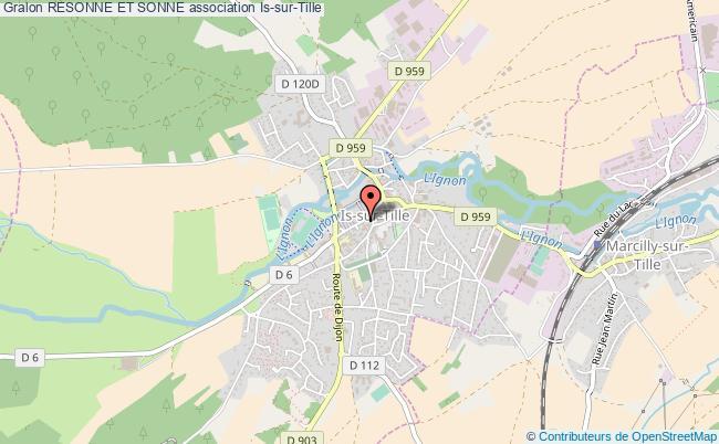 plan association Resonne Et Sonne Is-sur-Tille