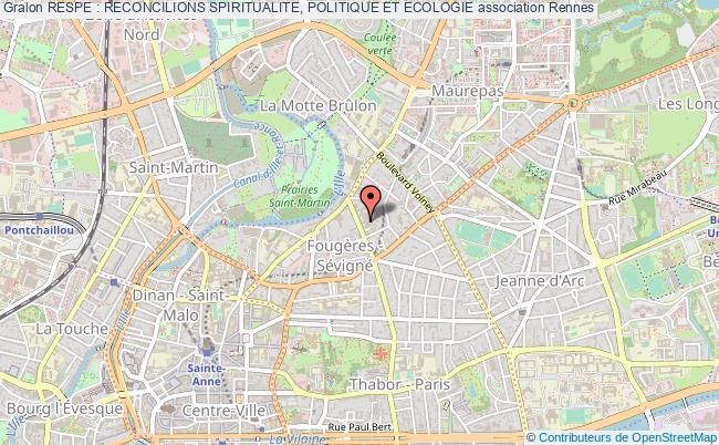plan association Respe : Reconcilions Spiritualite, Politique Et Ecologie