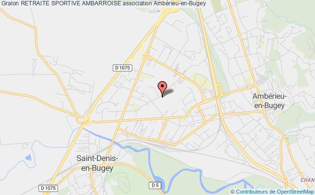 plan association Retraite Sportive Ambarroise Ambérieu-en-Bugey