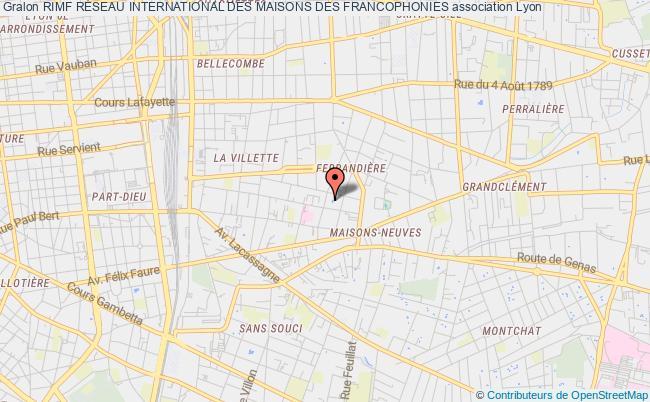 plan association Rimf RÉseau International Des Maisons Des Francophonies