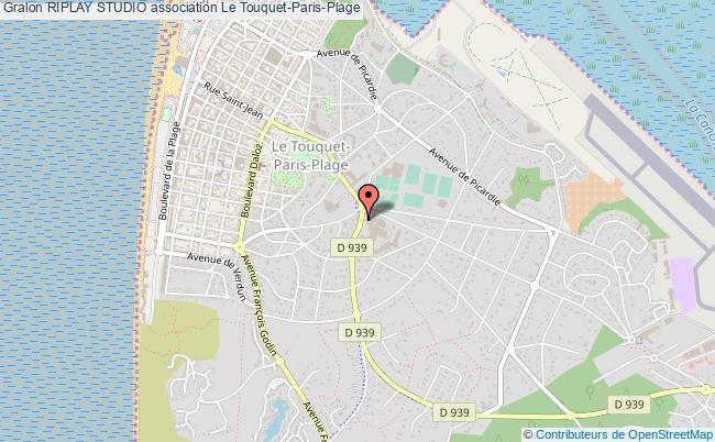 plan association Riplay Studio Le Touquet-Paris-Plage