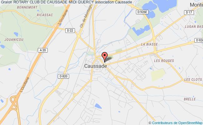 plan association Rotary Club De Caussade Midi Quercy Caussade