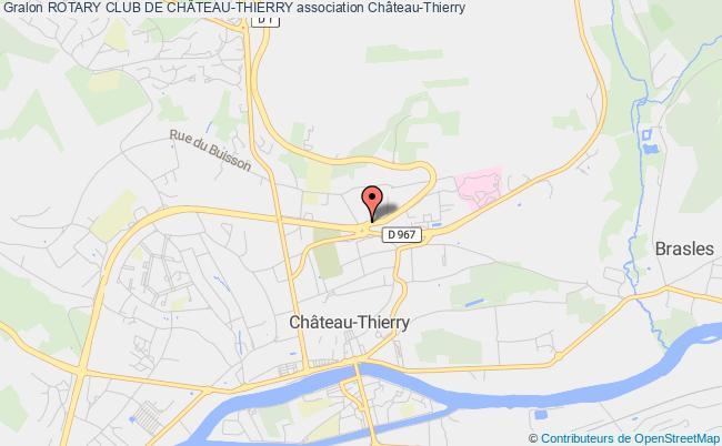plan association Rotary Club De ChÂteau-thierry CHATEAU-THIERRY