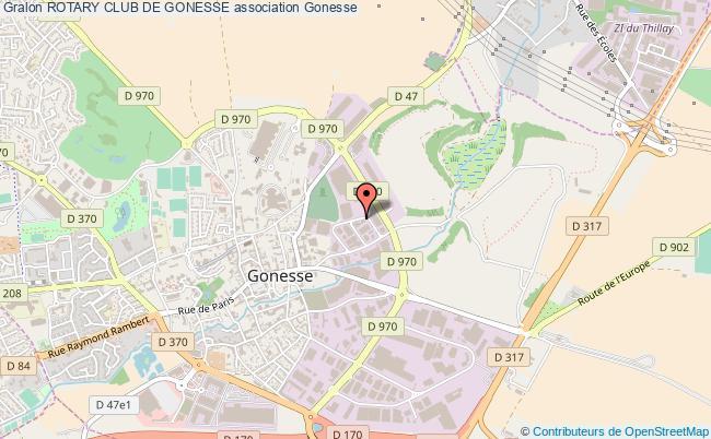plan association Rotary Club De Gonesse Gonesse