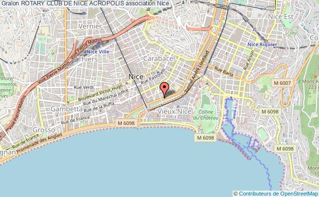 plan association Rotary Club De Nice Acropolis Nice