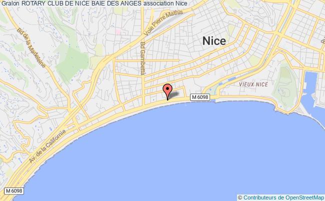 plan association Rotary Club De Nice Baie Des Anges