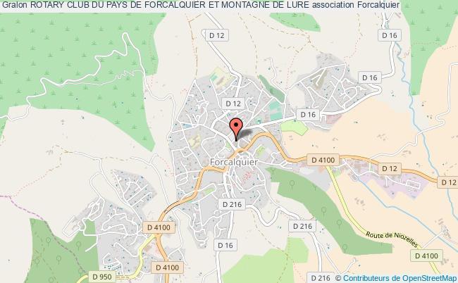 plan association Rotary Club Du Pays De Forcalquier Et Montagne De Lure