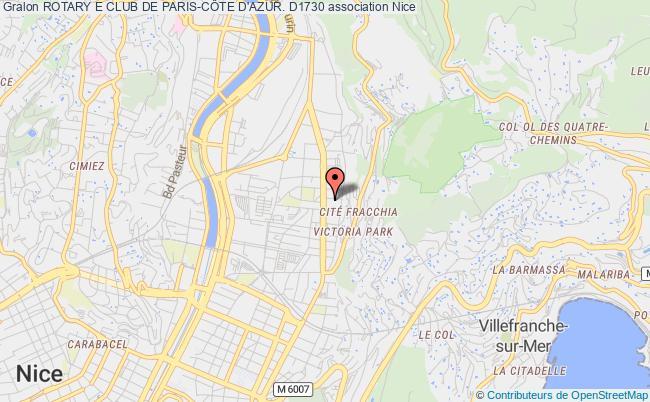 plan association Rotary E Club De Paris-cÔte D'azur. D1730