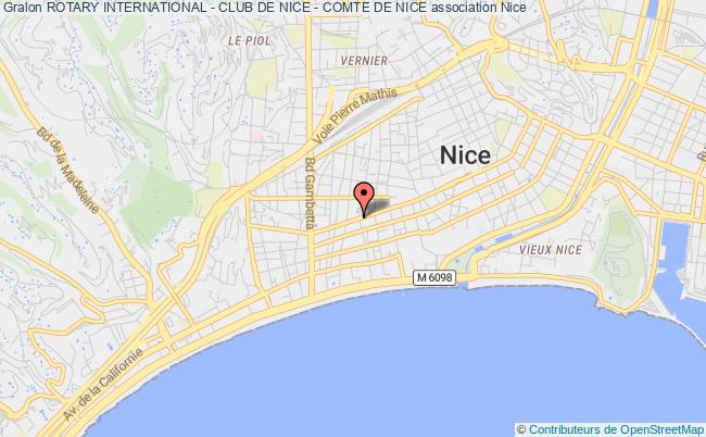 plan association Rotary International - Club De Nice - Comte De Nice