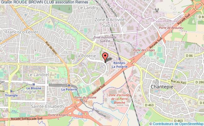 plan association Rouge Brown Club Rennes