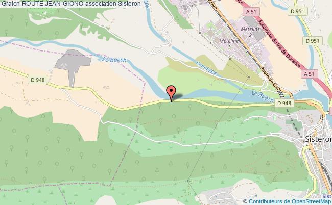 plan association Route Jean Giono